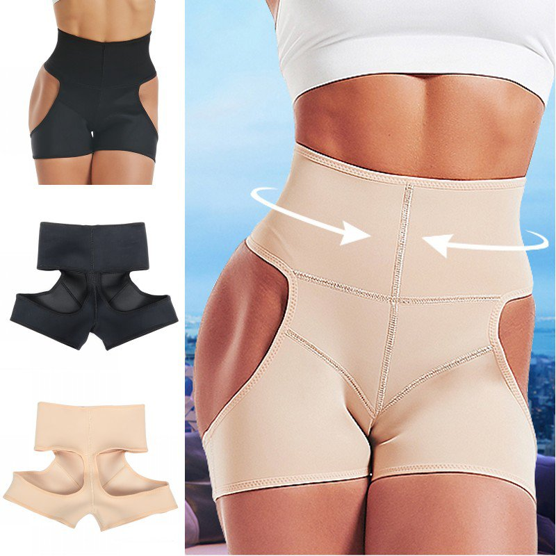 Plus Size Body Shaping Underwear Strong Tummy Hip Rubber Pants Body Shaping Hip Pants