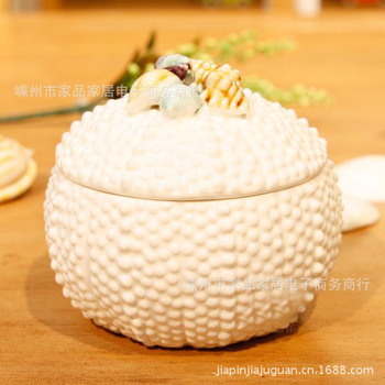 The Mediterranean-style original price  marine ceramic shell jewelry box storage box jewelry box wholesale
