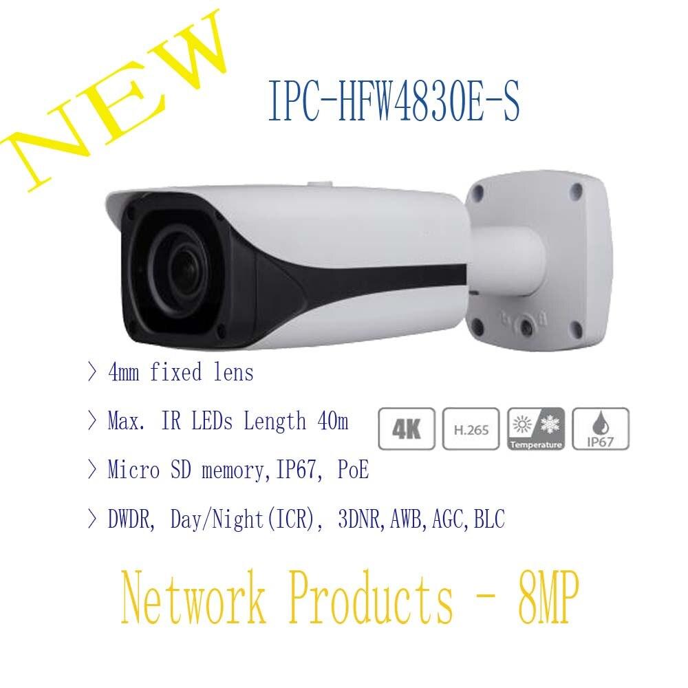 DAHUA Security IP Camera CCTV 8MP FULL HD IR Mini Bullet Network Camera IP67 with POE