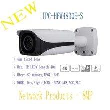 Free Shipping DAHUA Security IP Camera CCTV 8MP FULL HD IR Mini Bullet Network Camera IP67