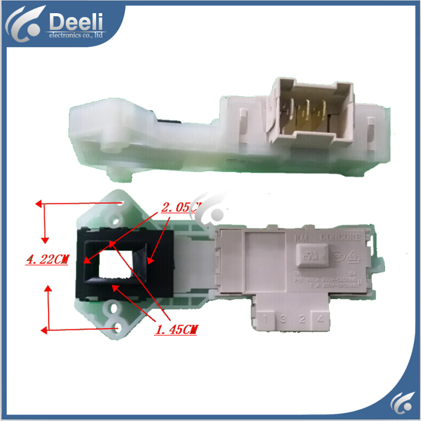 Original 95% new used for Glanz Washing Machine Blade Electronic door lock delay switch XQG60-A708 XQG55-A208