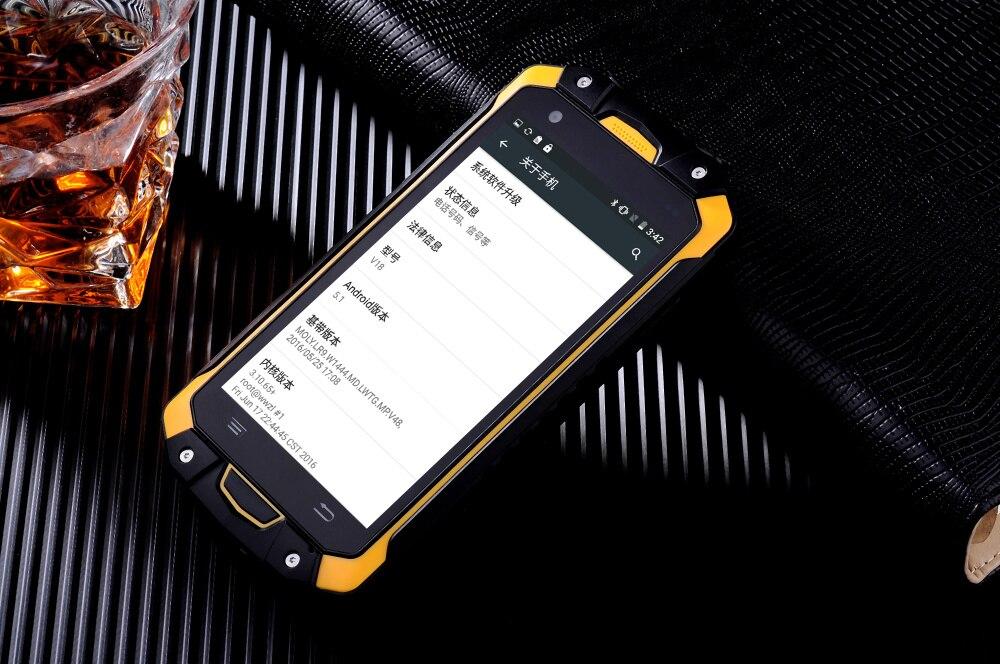 original LEMHOOV V18 IP68 Waterproof phone Rugged Android Smartphone Shockproof MTK6753 octa Core 3GB RAM 2 Watt UHF Radio 4G - 3