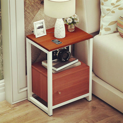 Simple Modern Wooden Tea Table Side Table Assembly Living Room Sofa Table Bedroom Bedside Table Corner Cabinet Living Room Table - 6