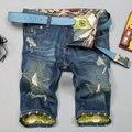 2016 Nuevos Hombres de Pantalones Cortos Ocasionales Del Verano Jeans Para Hombres Pantalones Cortos de Mezclilla los hombres de la Marca Slim Fit Pantalones Cortos Pantalones Cortos de Moda Masculina Más El Tamaño Caliente venta