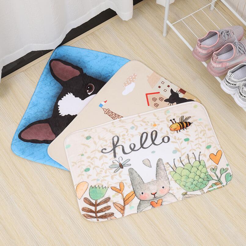 Image 2 - 40*60cm Multi Purpose Nordic Style Carpet Mattress Kitchen Bedroom Bathroom Door Absorbent Anti Skid Toilet Mat Bath Mats PVC-in Bath Mats from Home & Garden