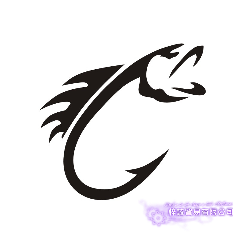 Fishing Sticker Logo Car Fish Decal Angling Hooks Posters