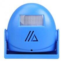 Бесплатная доставка беспроводной дверной звонок куранты тревоги добро пожаловать motion датчик беспроводной инфракрасный датчики синий