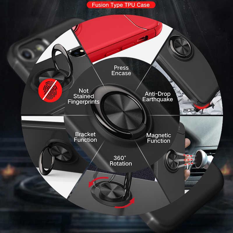 電話ケースシャオ mi 赤 mi 4 × 4 × 磁気リング車ホルダーケースアーマー高級オリジナルシリコーン tpu カバー mi 赤 mi 4X Fundas