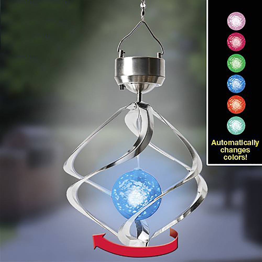 Solar Powered Outdoor Night Light Color Changing Hanging Decorative  Sparkling Crystals Gazing Ball LED Light Lamp