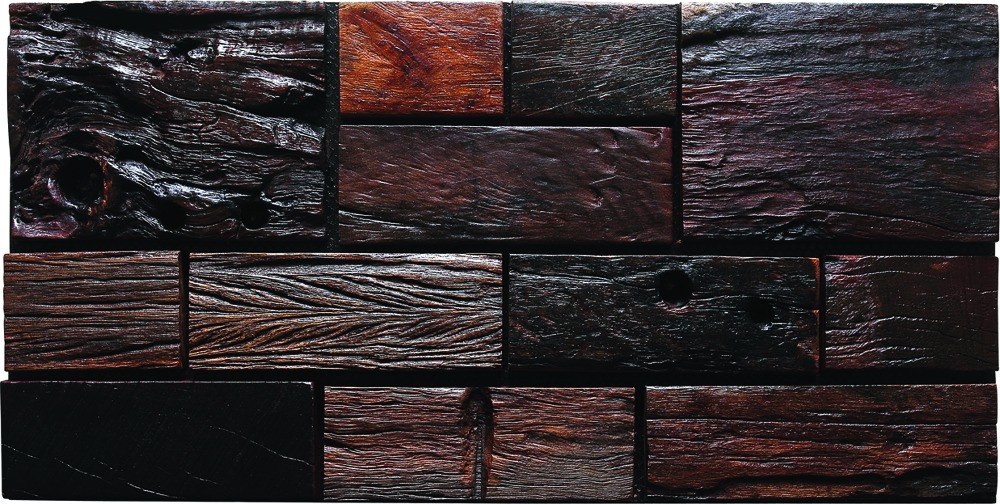 Tst aligned wooden panel wall deco striped 3d floor tile for Awesome bathroom 3d floor designs