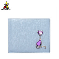 Mexican Short Ladies Wallet Multi card Position Cowhide Wallet