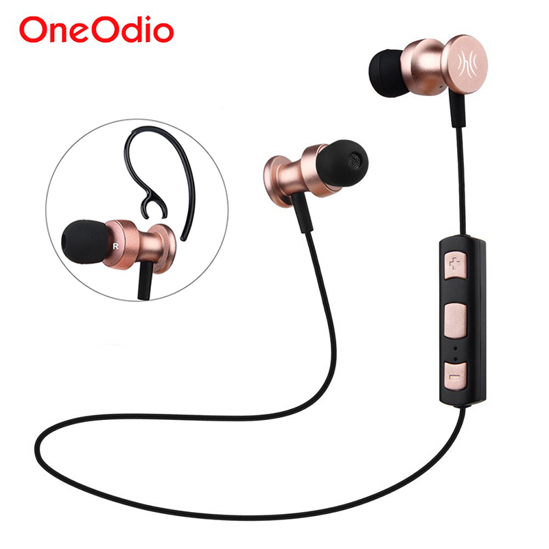 Oneodio Bluetooth 4.1 Earphone Sports Wireless Headphones Waterproof Magnetic Stereo Headset For Phone Xiaomi iPhone Android Mic oneodio sport bluetooth earphones magnetic waterproof running stereo wireless earphone with mic bass headset for iphone xiaomi