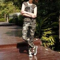 2016 Fashion Brand Camouflage Trousers Women Pants Slim Fit Camo Jogger Denim Pants Sweatpants Cotton Capri