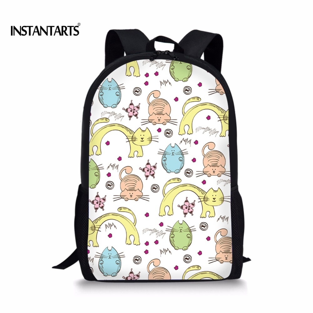 INSTANTARTS милый мультфильм головоломки детей школьные сумки Повседневное рюкзак для подростков девочек Mochila первичный школьный ранец Детские ...