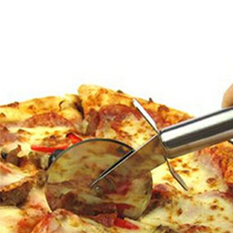 Kitchen Baking Tools Pizza Cutter Slicer Stainless Steel Round Wheel Pizza Knife For Cake Bread Pies Pastry Dough Cutting