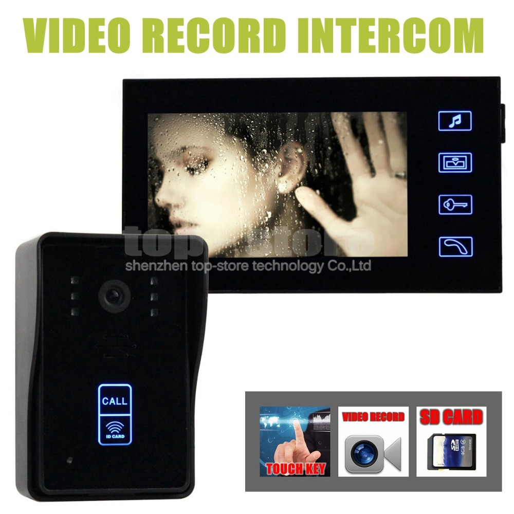 Diysecur Video Record 7 Inch Door Phone Intercom Doorbell Home How To Build Electronic Security Key Kit Touch Camera Monitor Rfid Keyfobs Sd Card In From