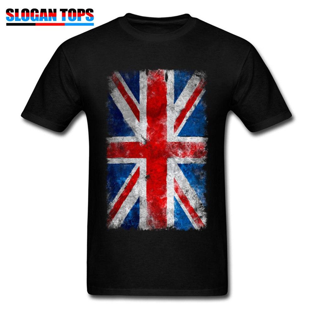 Camiseta de bandera británica para hombres, camisetas de Union Jack con estampado Vintage, camisetas para hombre con cuello redondo, camisetas de verano de manga corta, nueva ropa de algodón