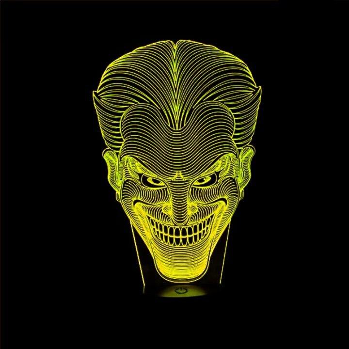 Luzes da Noite dia das bruxas caçoa o Item : Jack Smile Face 3d Illusion Lamp