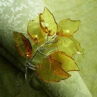 crystal leaf napkin rings,   cheap wedding napkin holder