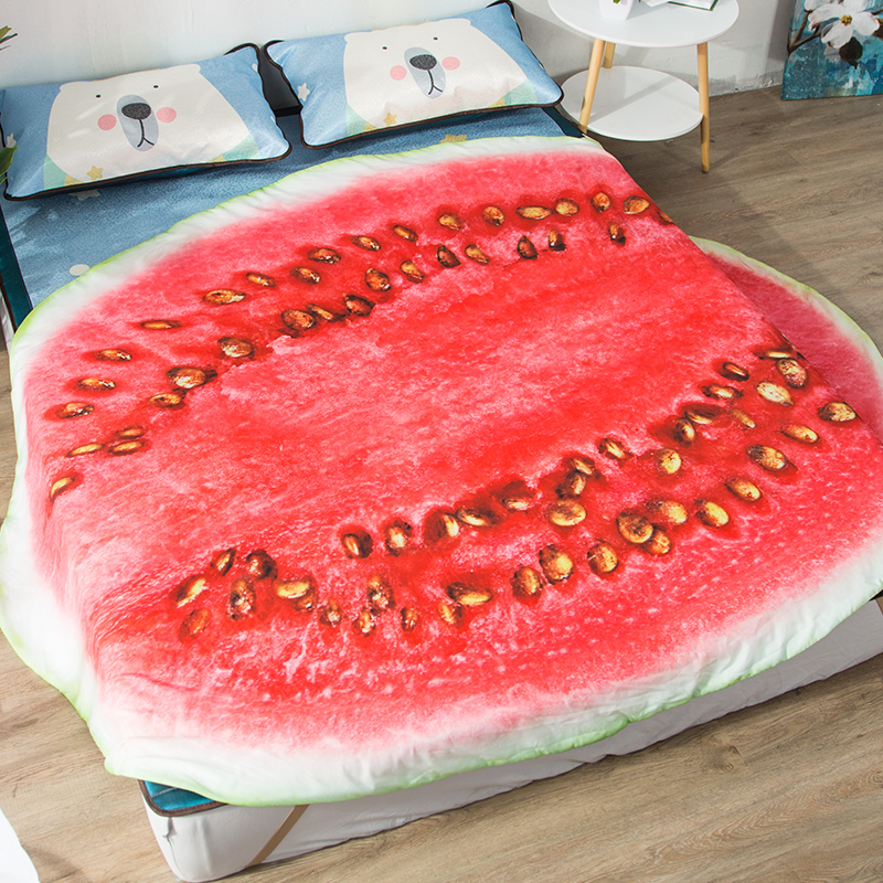 RUBIHOME 1 Piece 3D Style Fruit Apple Food Design Throw Air Conditioning Blankets Bedsheet Sofa Cover Summer Office Quilts