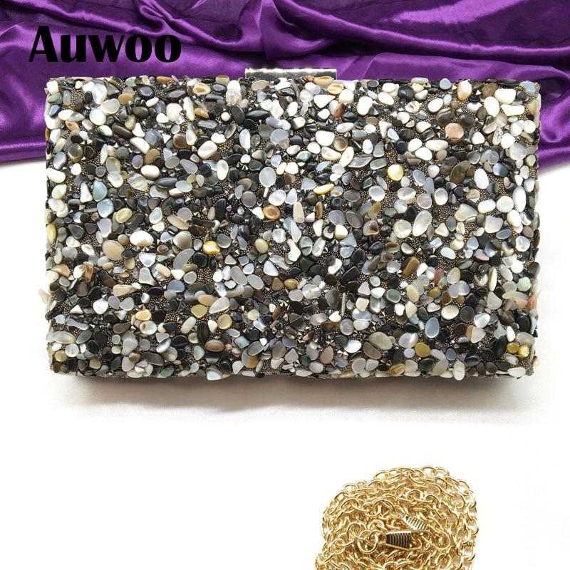 ФОТО Black Stone Women Luxury Evening Bag Mit Diamond Bag Lady Beachstone Banquet Chain Handbag Female Day Clutch Wedding Party 8038