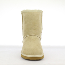 UVWP Top Quality Women's Genuine Sheepskin Leather Snow Boots 100% Natural Fur Snow Boots Warm Wool Winter Boots Women Boots