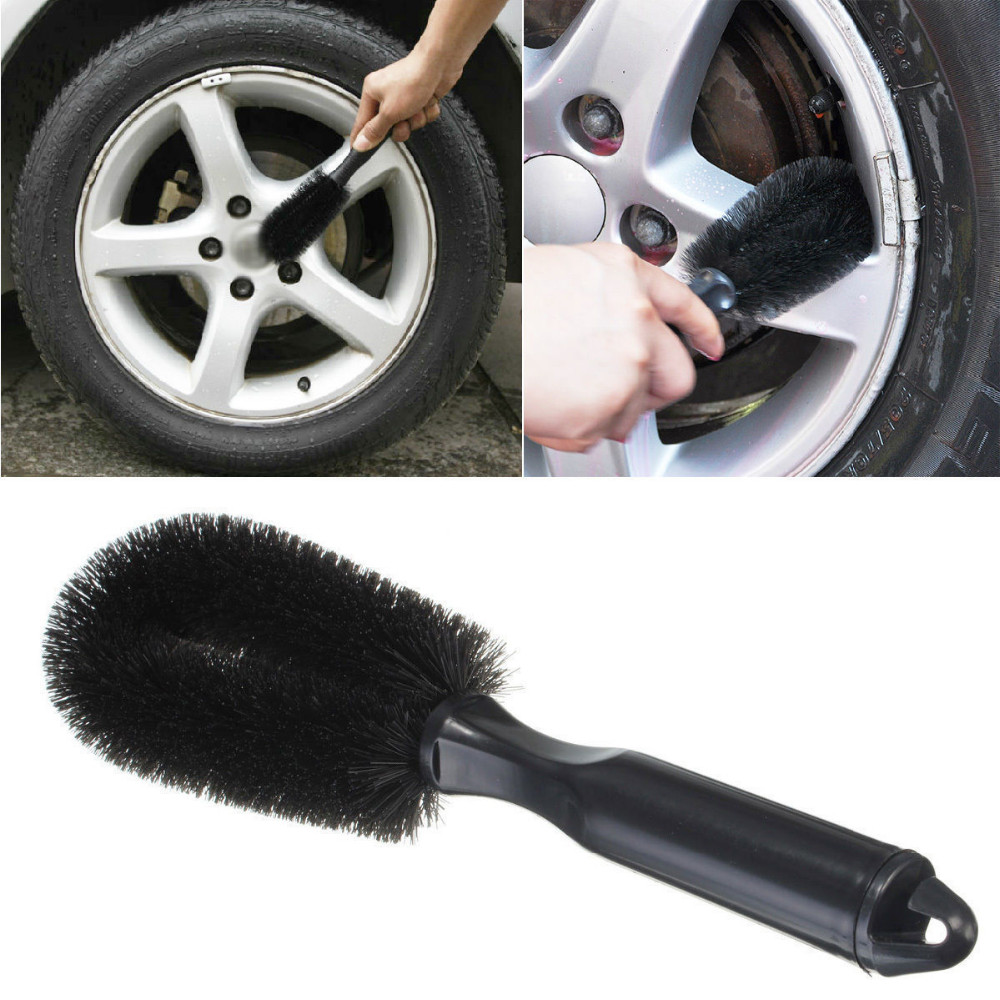 Wheel Tire Rim Scrub Brush Car Truck Motorcycle Bicycle Washing Cleaning Tool Car Care