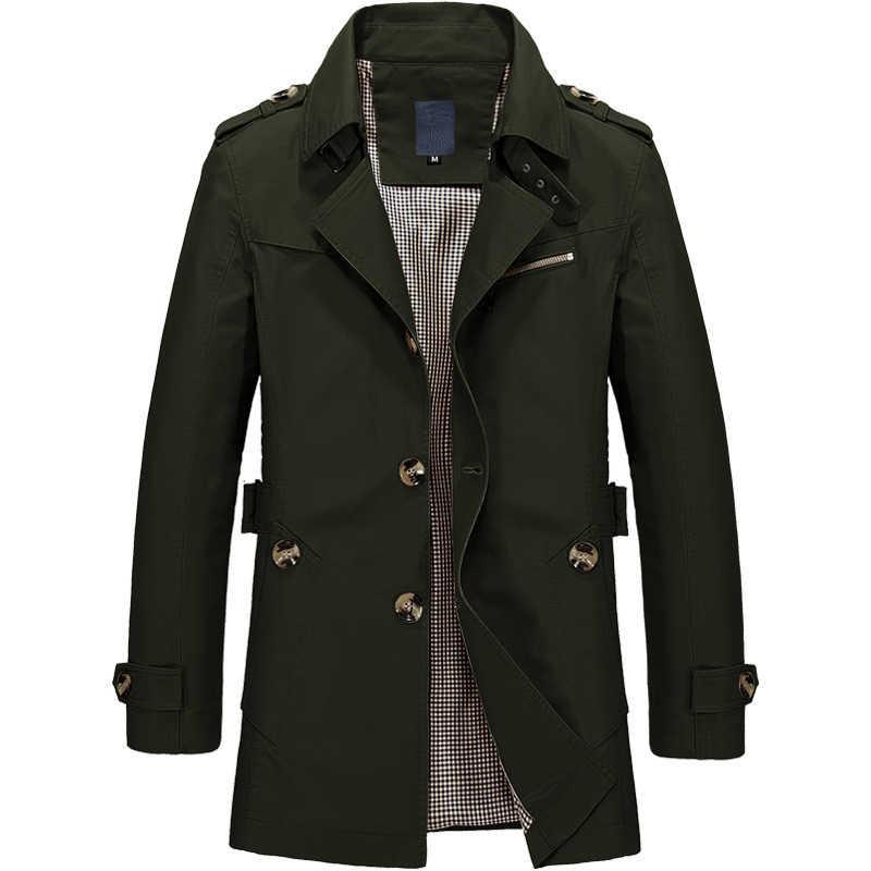 Осенне-зимние мужские куртки повседневные тренчи мужские деловые ветровки модные приталенное пальто Мужская брендовая одежда DA026