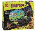 Bela 10430 Scooby Doo Mistério Ônibus Máquina de Bloco de Construção de Brinquedos com P029 lepin 75902 presente de Natal