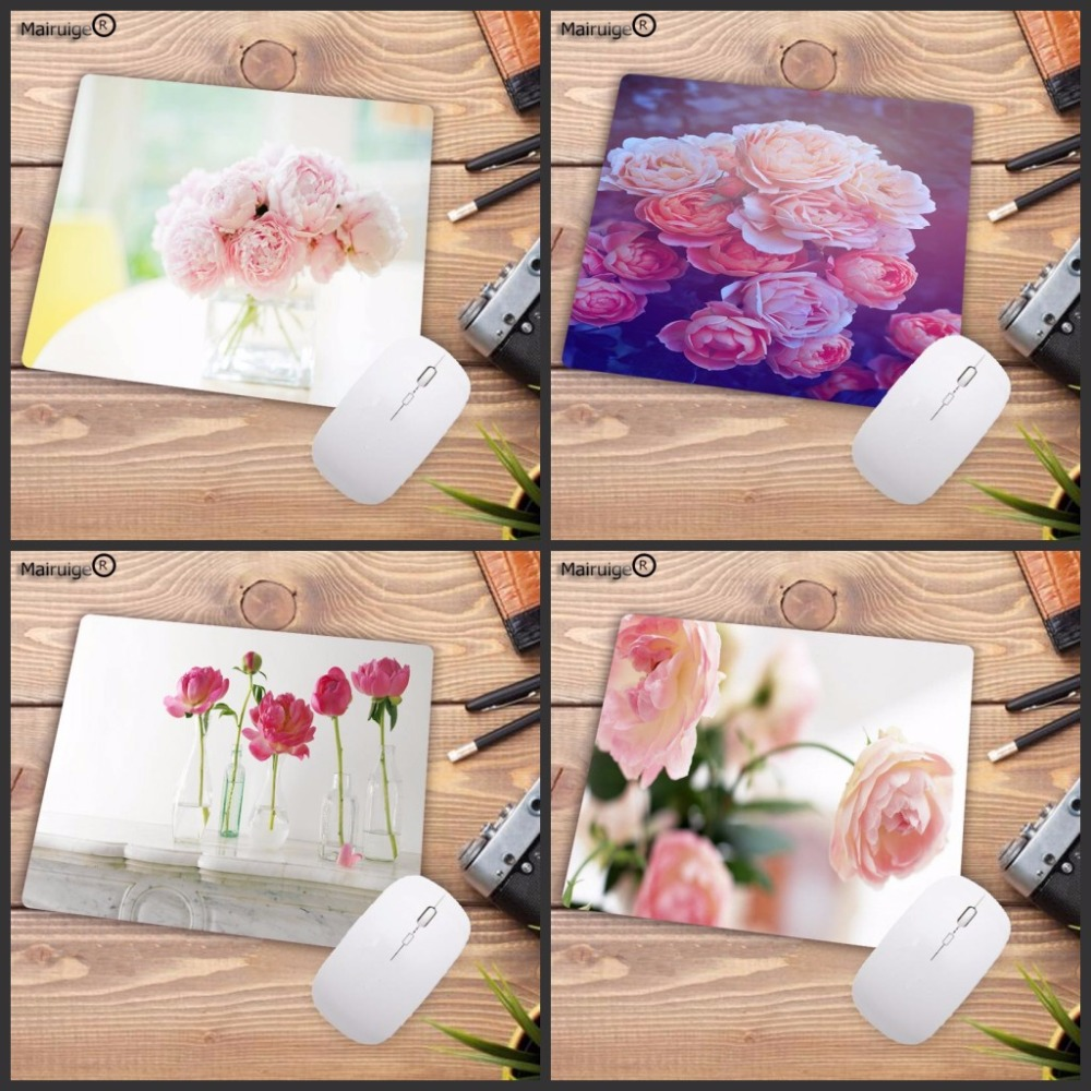 Mairuige Rubber Gaming Mouse Pad Pink Flower Print Laptop Mouse Mat Small Size For 18x22cm 20x25cm 25x29cm For CSGO DOTA LOL