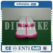 DWF 소재 3x1x0.2m 무료 배송 에어 체어 풍선 텀블러 트레이닝 체육관 매트 체조 경기 용 핑크 체조