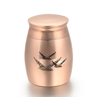 3 different Size Premium Stainless Steel Cremation Ashes Keepsake Funeral Urns Ash Lockets Cremains Casket