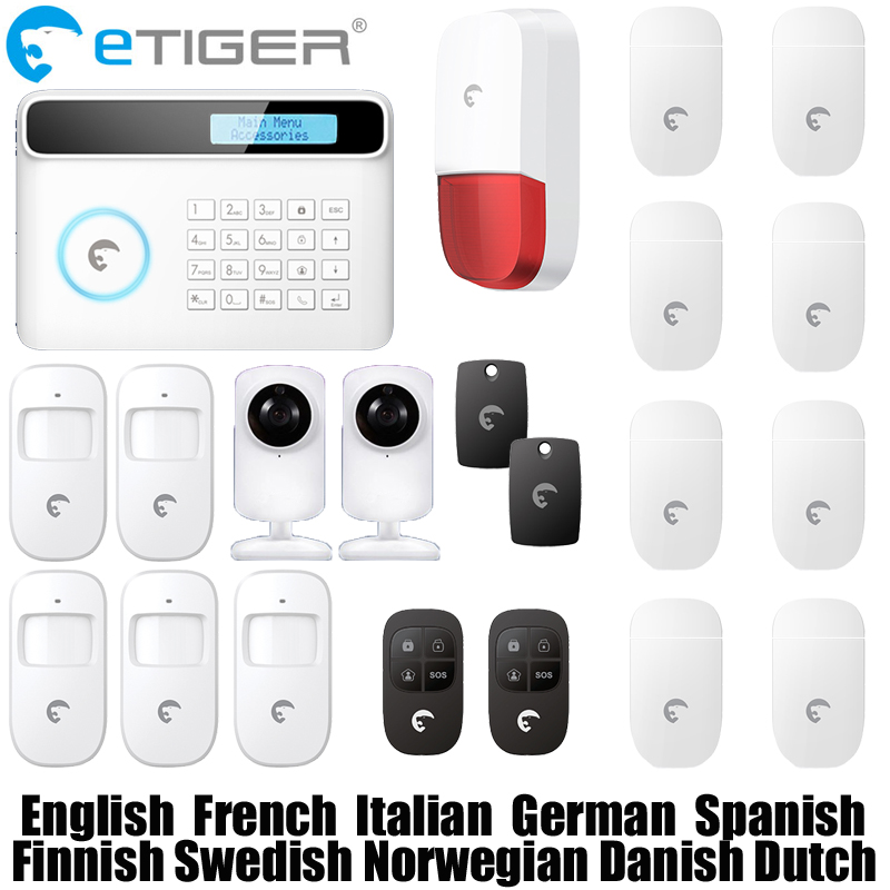 2016 New & hot Etiger S4 Wireless GSM Alarm System GSM And PSTN Dual network Smart Safe Home Security Alarm System etiger hot selling b11 dual network pstn and gsm burglar security alarm system 315
