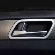 ABS Chrome For 2015 2016 2017 Hyundai Sonata car styling auto accessories Car inner door Bowl protector frame Cover Trim for hyundai i20 ii 2 2015 2016 2017 2018 chrome car door handle cover accessories