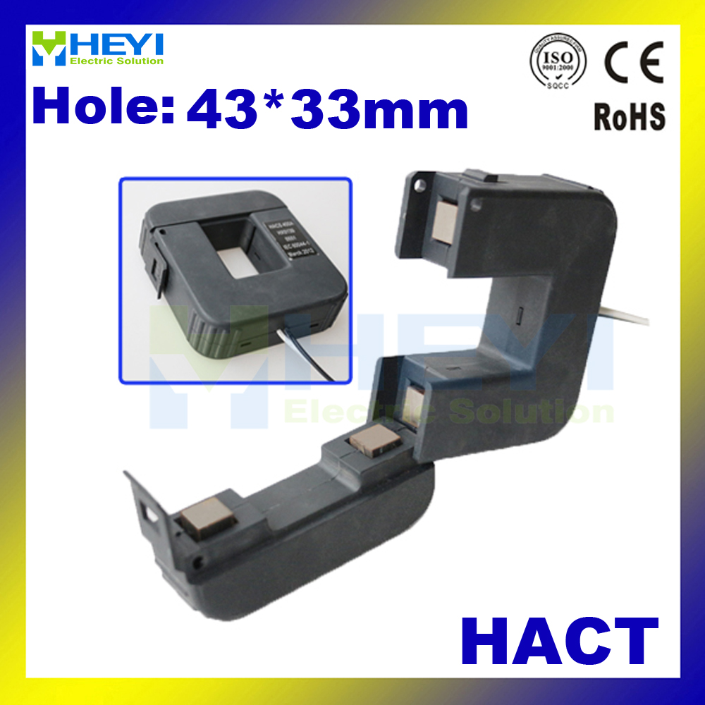 цена на Clamp on current transformer HACT Series split core ct class 0.5 open type CTs with 4 various connectors ct manufacturer