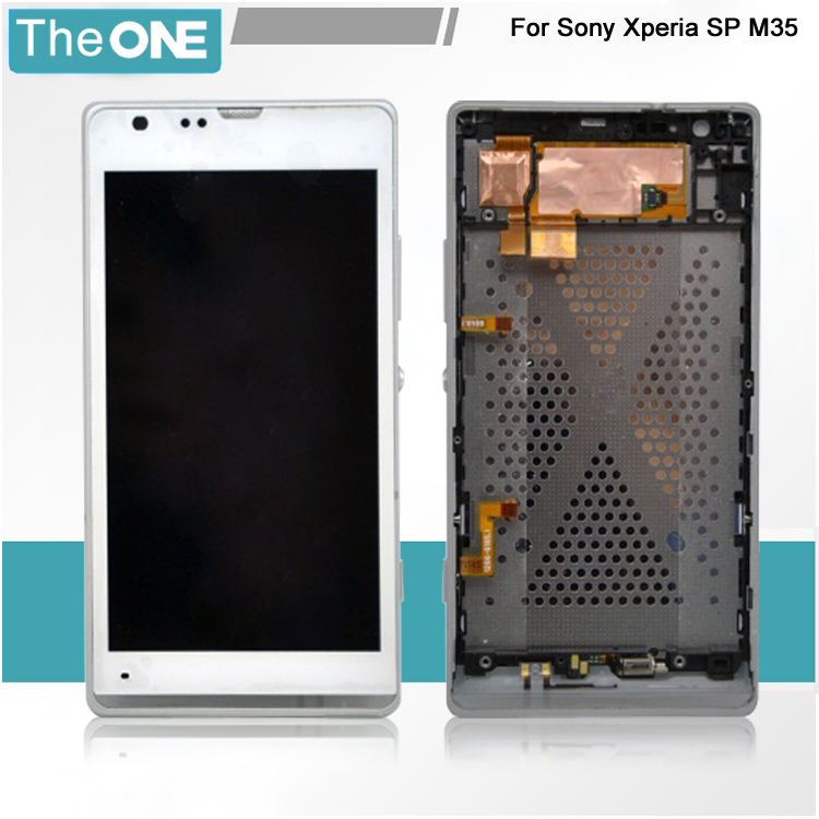 ФОТО For Sony SP M35h M35 M35i c5302 c5303 lcd display screen touch digitizer assembly+ frame ,free shipping