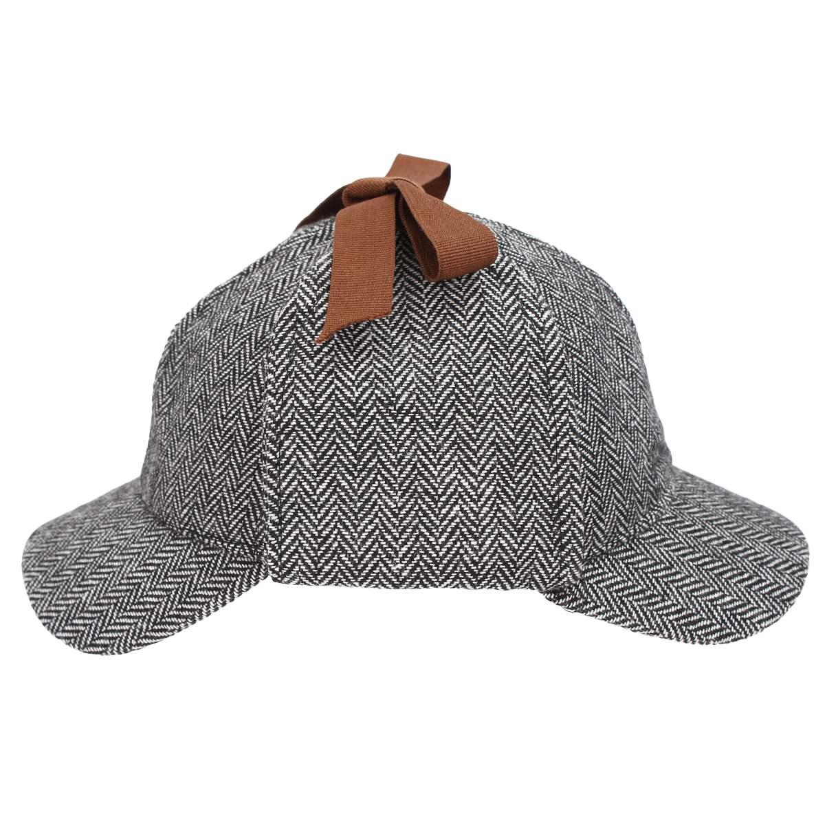 Women Men Earflap Berets Cap Tweed Gatsby Detective Hats Role Play Sherlock  Holmes Deerstalker Hat Winter Warm Visor Casquette-in Berets from Apparel  ... a3cceb49473c