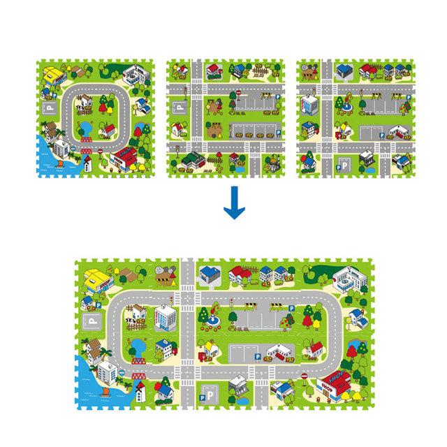 4 pçs/set 40*40 cm Esteira do Enigma Tapete Esteira Do Jogo Do Bebê Mat Piso de Mosaico EVA Tapete De Espuma para As Crianças