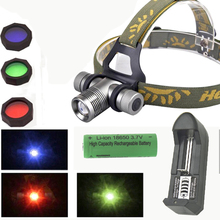 led headlight 2000LM zoomable CREE Q5 LED Headlamp Torch head light led+ 1*18650 battery for Hunting fishing with charger
