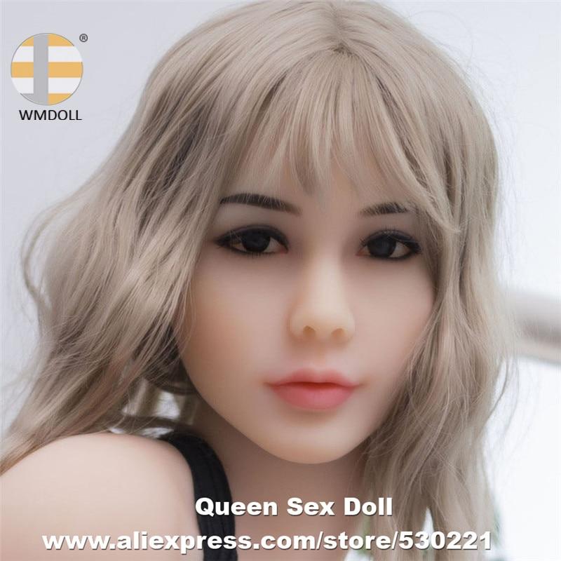 WMDOLL Top qualité #70 vraie tête de poupée adulte pour TPE poupées de sexe réaliste Silicone amour poupée tête Fit 140 to172cm corps Oral Sexy