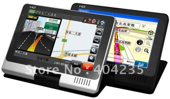 Wholesales 5.0 inches car GPS Navigator with Touch-Screen MP3 MP4 MP5 FM GAME EBOOK USB SD Free map