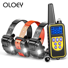 Original 800M Pet Dog Training Collar with 3 Receivers Electric Anti Barking Waterproof Rechargeable Remote Control Dog Collar цена 2017