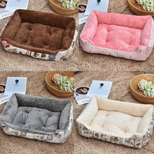 Plus Size Soft Pet Dog Bed Mats Fleece Lounger Sofa Nest for Small Large Dogs Pet Basket Winter Warming Kennels Pet Supplies