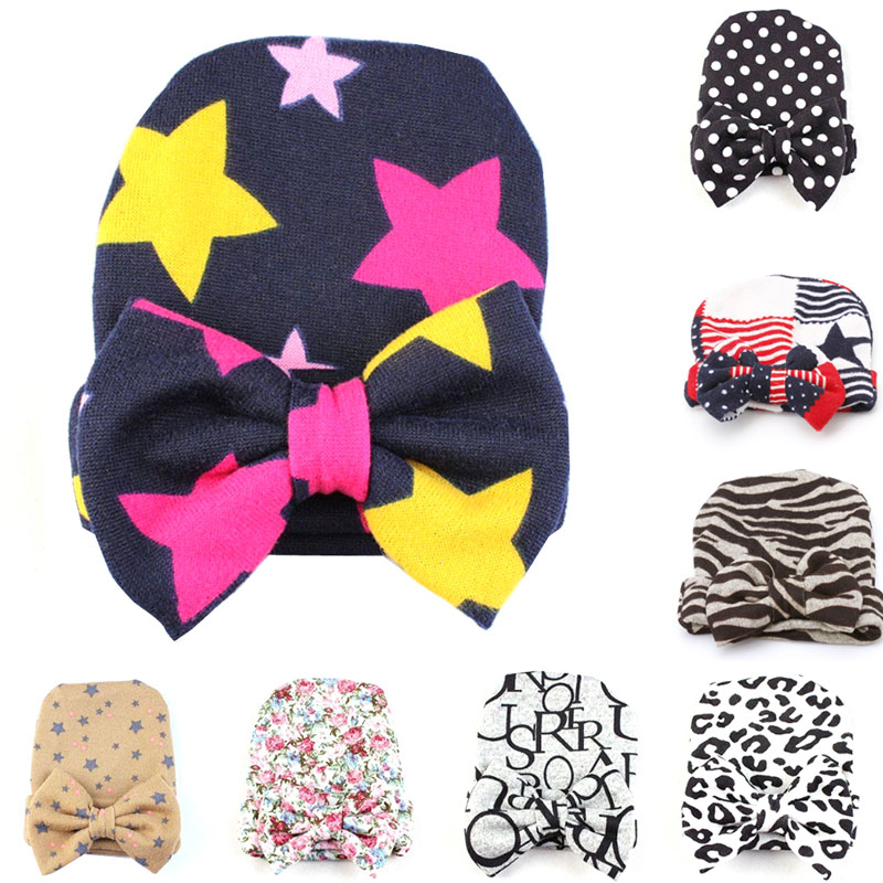 Boys Girls Toddler Hospital Warm Cap Bowknot Beanie Hat