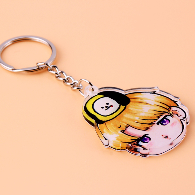 Acrylic Anime Cute Keychain Love Yourself Porte Clef Key Chain 3