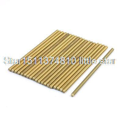 Lathe 50mm x 2mm Brass Axle Round Stock Drill Rod Bar 20Pcs 3 2mm x 100mm hss straight machine turning tool round lathe bar rod stick 10pcs