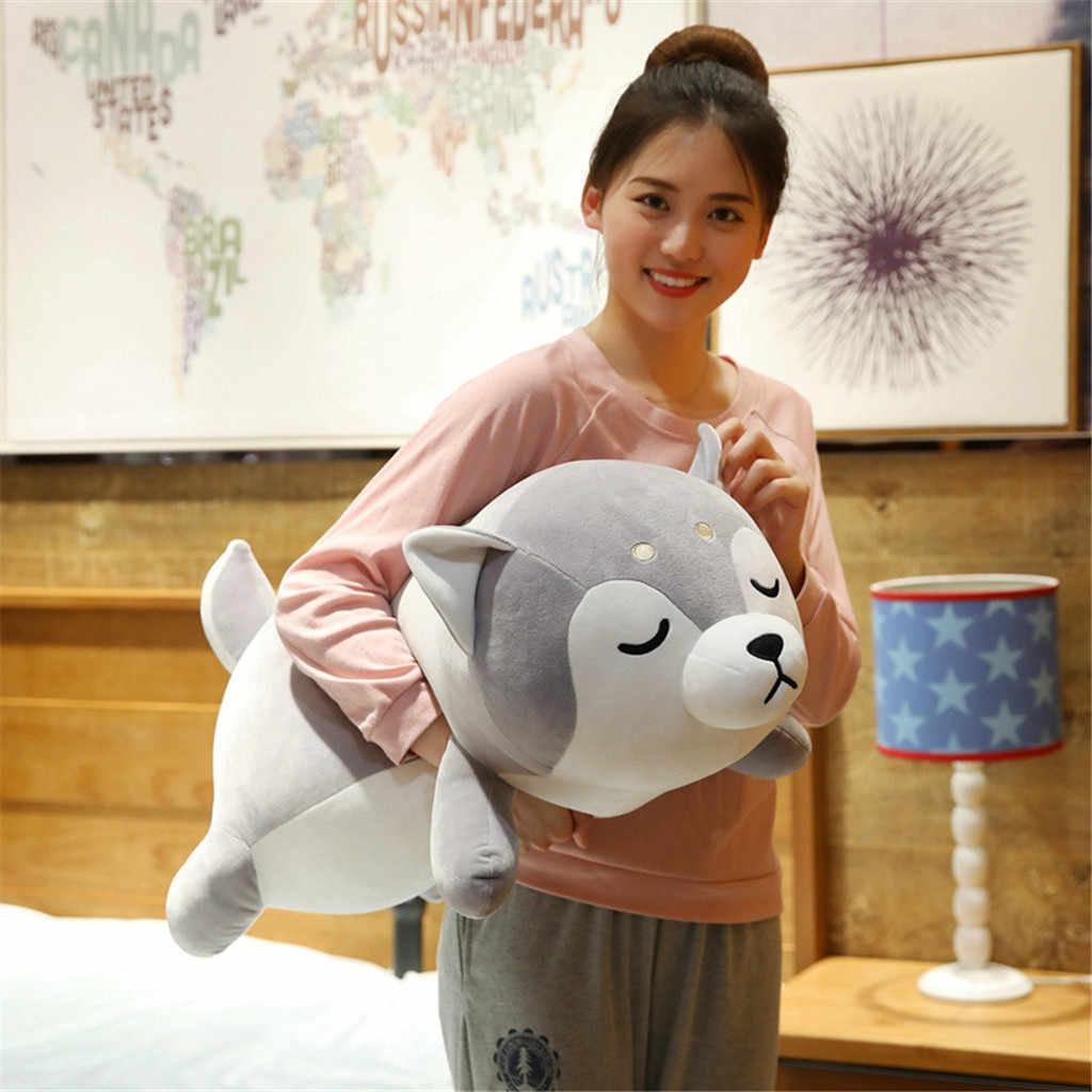 35 cm/50 cm 높이 대형 봉제 강아지 개 인형 장난감 어린이 잠자는 쿠션 귀여운 인형 거친 아기 동행 인형 생일 선물