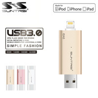 Suntrsi USB 3.0 Flash Drive для iphone 8x7 6S 5S/ipod/ipad накопитель 128 ГБ флэш-накопитель USB OTG 64 ГБ 32 ГБ для IOS ПК Lightning