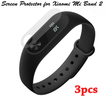 3Pcs for Xiaomi Mi band 2 High Quality TEAMYO Screen Protectors Film HD Scratch-proof For  MiBand 2 Smart Wristband Bracelet