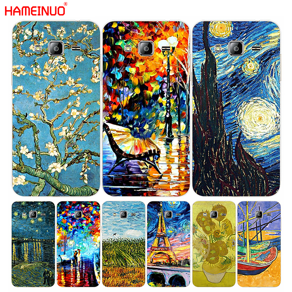 HAMEINUO Starry Night Van Gogh boat tree flower cover phone case for Samsung Galaxy J1 J2 J3 J5 J7 MINI ACE 2016 2015